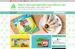 Thiết kế website thực phẩm Duy Anh