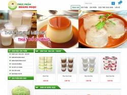 Thiết kế website thực phẩm Hoàng Ngọc