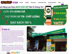 Thiết kế website thủy sản nông sản Bách Hóa Việt