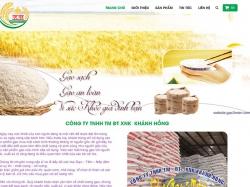 Thiết kế website thủy sản nông sản Khánh Hồng