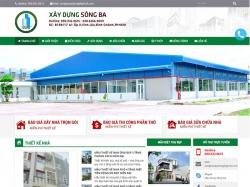 Thiết kế website xây dưng Sông Ba