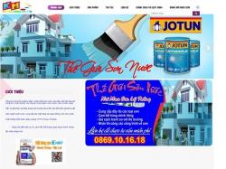 Thiết kế webste sơn nước Khánh Hồng