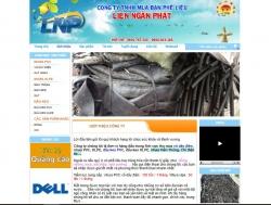 Website bán hàng mua bán phế liệu Liên Ngân Phát