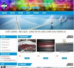Website công nghiệp Công Ty Tân Gia Hoàng