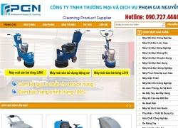 website của Công ty thương mại và dịch vụ Phạm Gia Nguyễn
