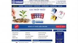 website dịch vụ Công ty Khắc dấu Đông Dương