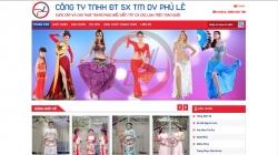 website dịch vụ Công ty TNHH Đầu Tư Sản Xuất Thương Mại Dịch Vụ Phú Lê