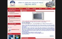 website dịch vụ Công Ty Tnhh Một Thành Viên Thương Mại Dịch Vụ Kỹ Thuật Trung Đức