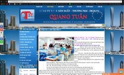 website dịch vụ Công Ty Tnhh Sx – Tm – Dv Quang Tuấn