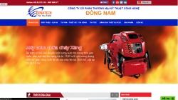 website phòng cháy chữa cháy Cty Cổ Phần Thương Mại Kỹ Thuật Công Nghệ Đông Nam