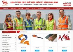 Website thiết bị dụng cụ Công Ty TNHH TM DV xuất nhập khẩu xây dựng Quang Minh
