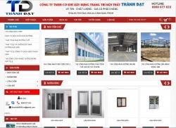Website xây dựng Công ty trách nhiệm hữu hạn cơ khí xây dựng trang trí nội thất Thành Đạt